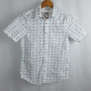 Urban Pipeline Fish Bones Button Up Shirt Fishing